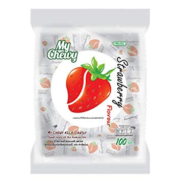 My Chewy Milk Candy Strawberry Flavour 360g