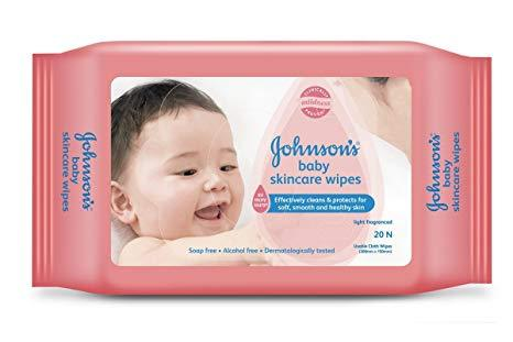 Johnson's Baby Skincare Wipes 20N - Sherza Allstore