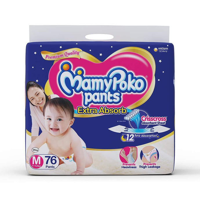 Mamy Poko Pants Extra Absorb Diapers M76 Pants - Sherza Allstore