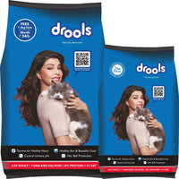 Drools Cat Adult Tuna & Salmon 3kg Free 1.2kg Cat Adult Tuna & Salmon