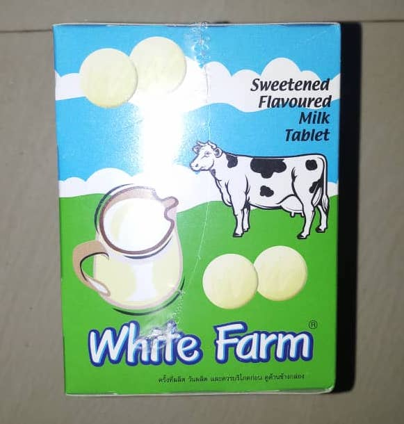 White Farm Milk Tablet 72g (Sweetened Flav.)