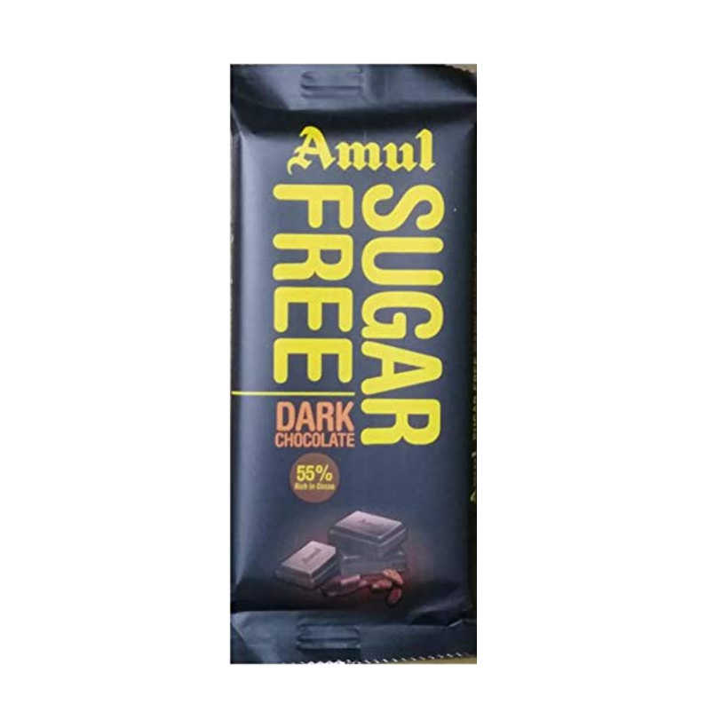 Amul Sugar Free Dark Chocolate 35g