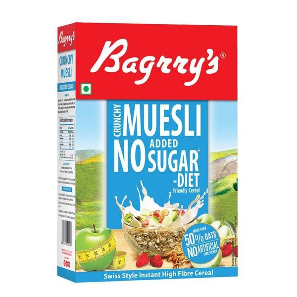 Bagrry's Crunchy Muesli No Added Sugar 500g - Sherza Allstore