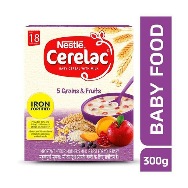Nestle Cerelac 5 Grains & Fruits 300g - Sherza Allstore