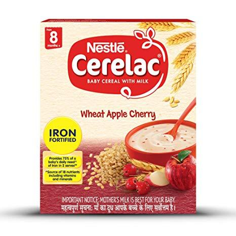 Nestle Cerelac Wheat Apple Cherry(8-12 months) 300g - Sherza Allstore