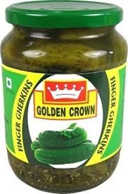 GOLDEN CROWN GHERKINS IN VINEGAR 670g