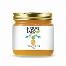 Nature Land Organics Pineapple Jam 250g - Sherza Allstore