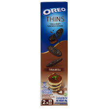 Oreo Thins  Thin & crispy sandwich cookies TIRAMISU