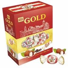 Hugs Gold Center Filled Milk Choco Pkt 900g - Sherza Allstore