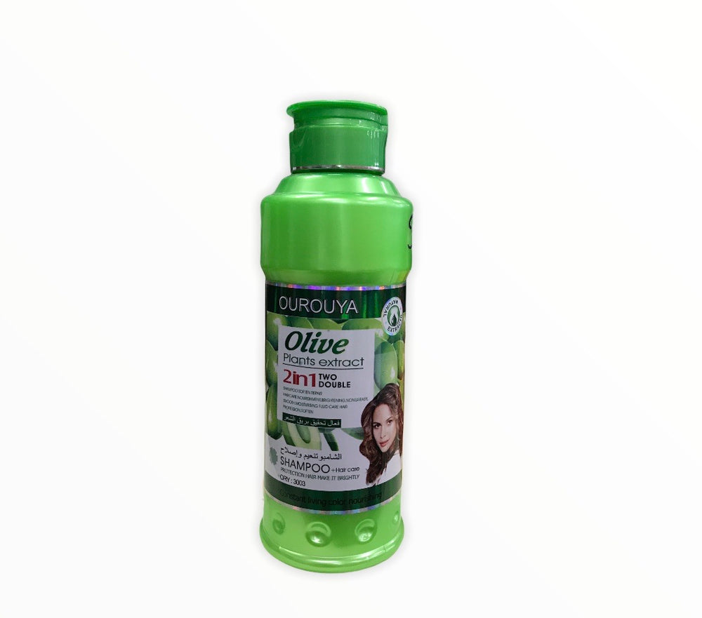 Ourouya Olive Plants Extract 2 In 1 Shampoo 500ml(Shampoo + Hair Care)