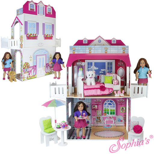 "18"" Doll Two Story Doll House"