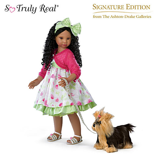 Angela Sutter Kaylas Sunday Stroll Doll with her Yorkie