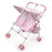Folding Double Doll Pink Gingham Stroller