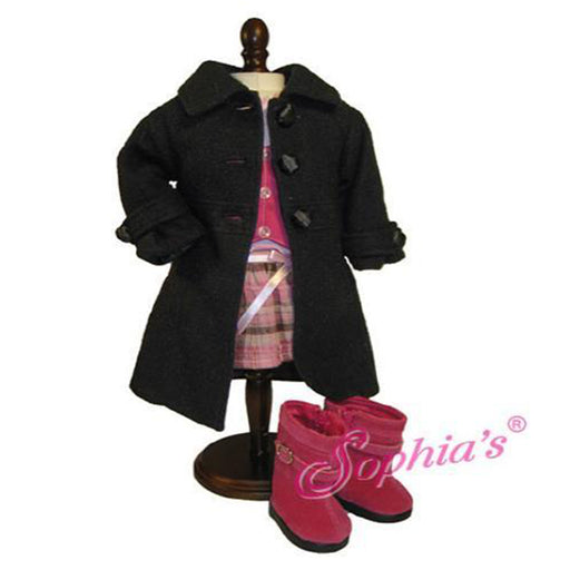 Black Button Dress Coat