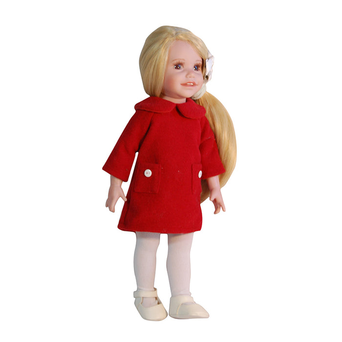 "Donna - 18"" Doll in red dress and leggings"