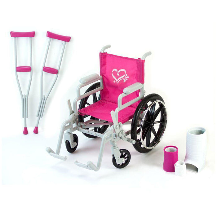 "18"" Doll Wheelchair, Crutches and Bandage Set"