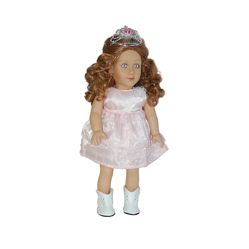"Meagan - 18"" Doll in Pink Lace Dress & Tiara"