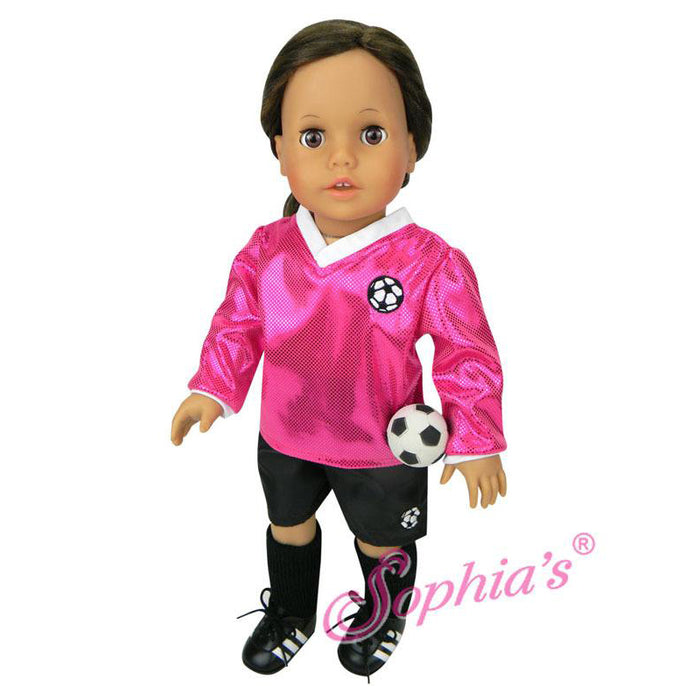 Soccer Outfit - Fuchsia, with Ball
