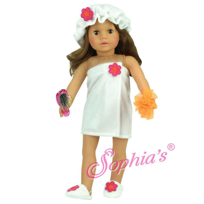 "18"" Doll Towel Wrap Shower Set"