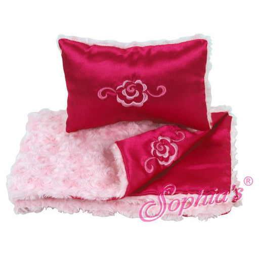 Pink Fur & Satin Reversible Bedding Set