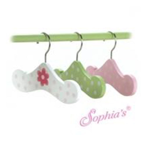 Set of 3 Hand Painted Wooden Hangers