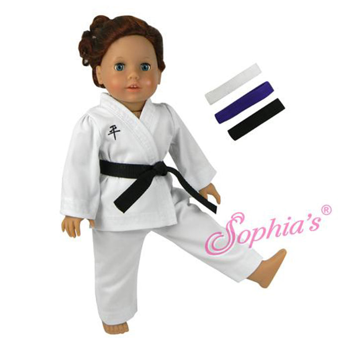 Karate Uniform with 3 Belts