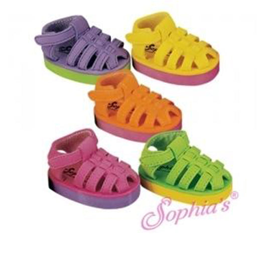Foam Sandals Hot Pink & Purple