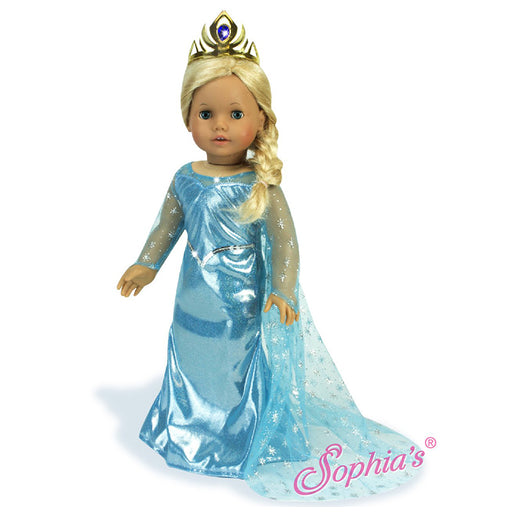 "Elsa Blue Ice Princess Dress with Tiara -18"" Doll"