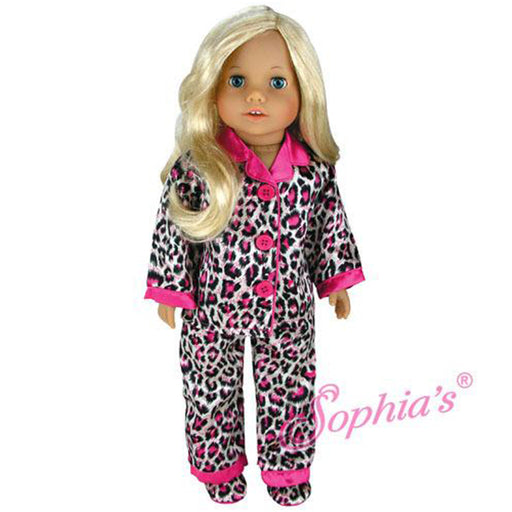 "18"" Doll Animal Print Satin PJs"