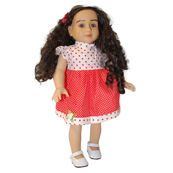 "18"" Doll Red Polka Dot Dress"