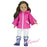 "18"" Doll Hot Pink Poncho with Star Print Rain Wellies"