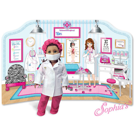 "18"" Doll Medical Office Reversible Playscene"