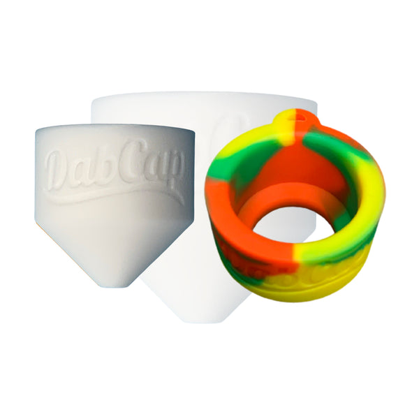 dabcap co bundle white dabcap and rasta pendant