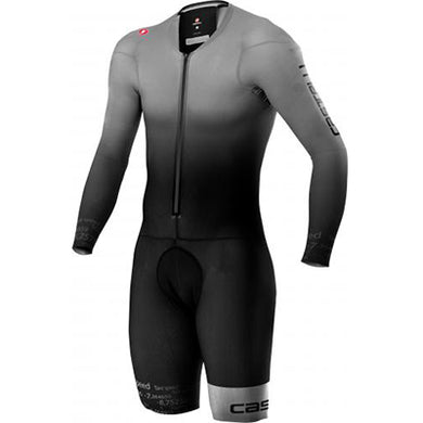 Castelli Body Paint 4.X Speed Suit LS Silver Gray/Black