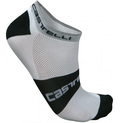 Castelli Lowboy Sock White/Black