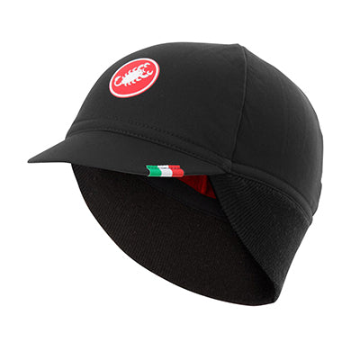 Castelli Difesa Thermal Cap Black/Red