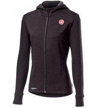 Castelli Milano Full Zipp W Fleece Melange Light Black