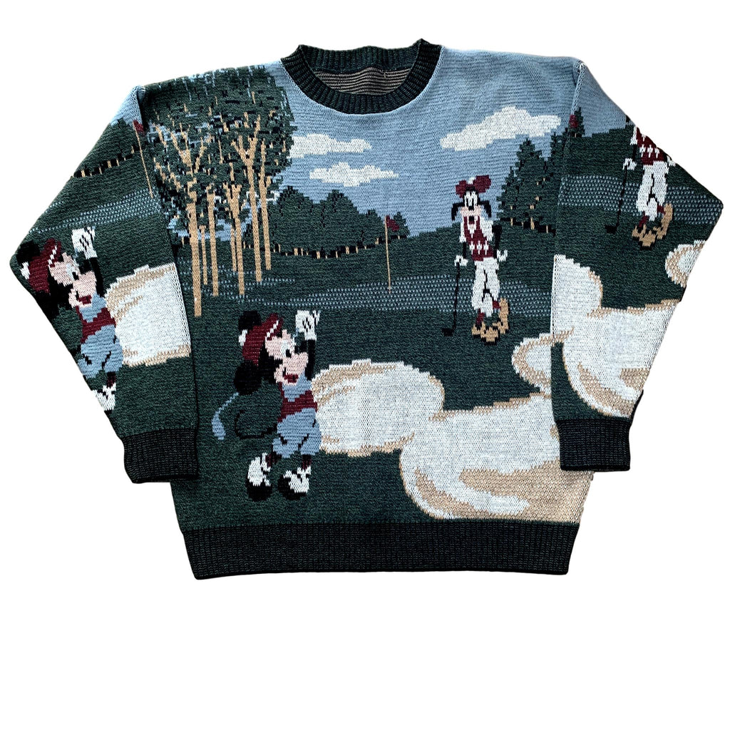 Vintage Mickey Mouse Disney Golf Knitted Jumper (XL)