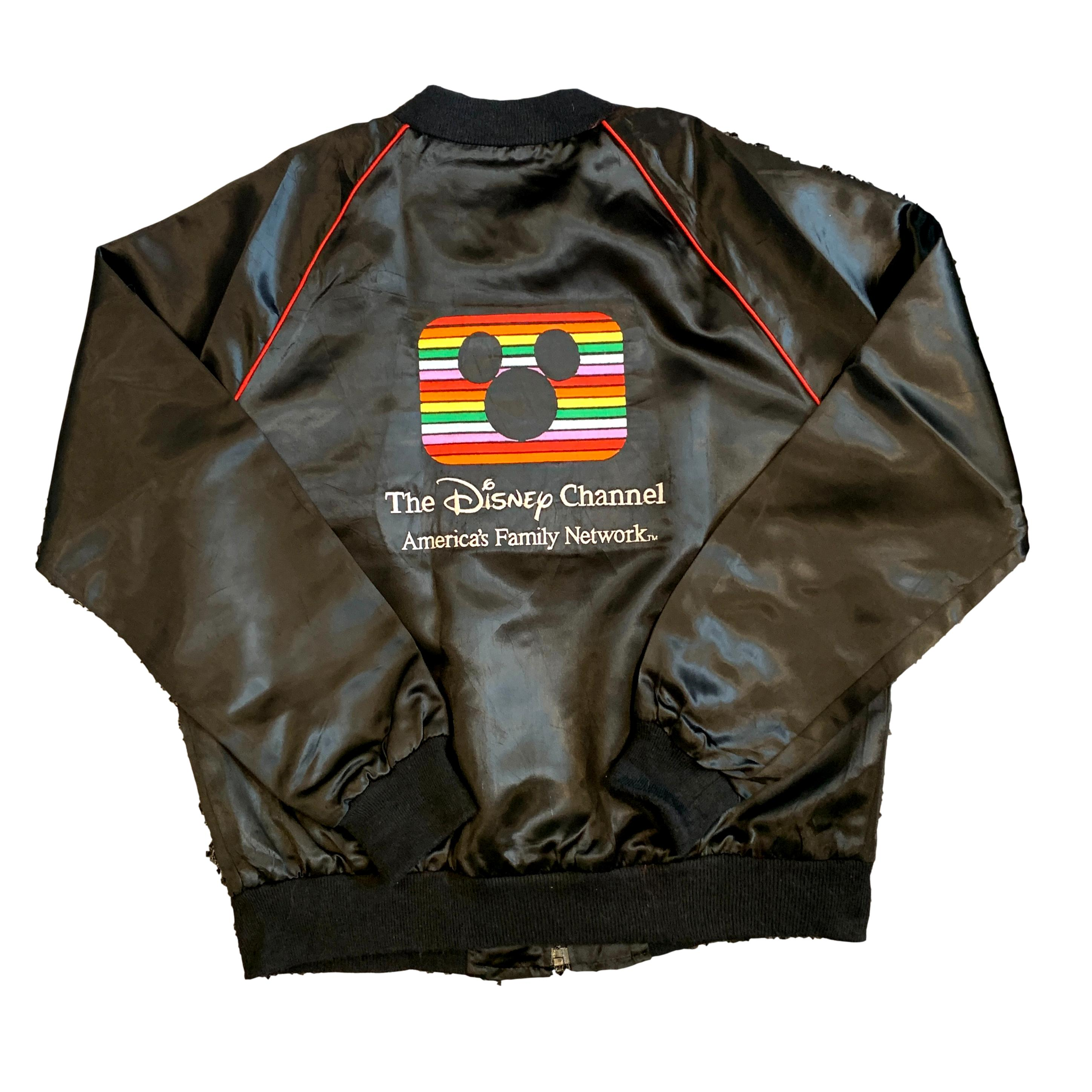 Vintage The Disney Channel Silk Bomber Jacket (M)