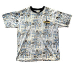 Vintage Disney Adventureland All Over Print T Shirt (L)