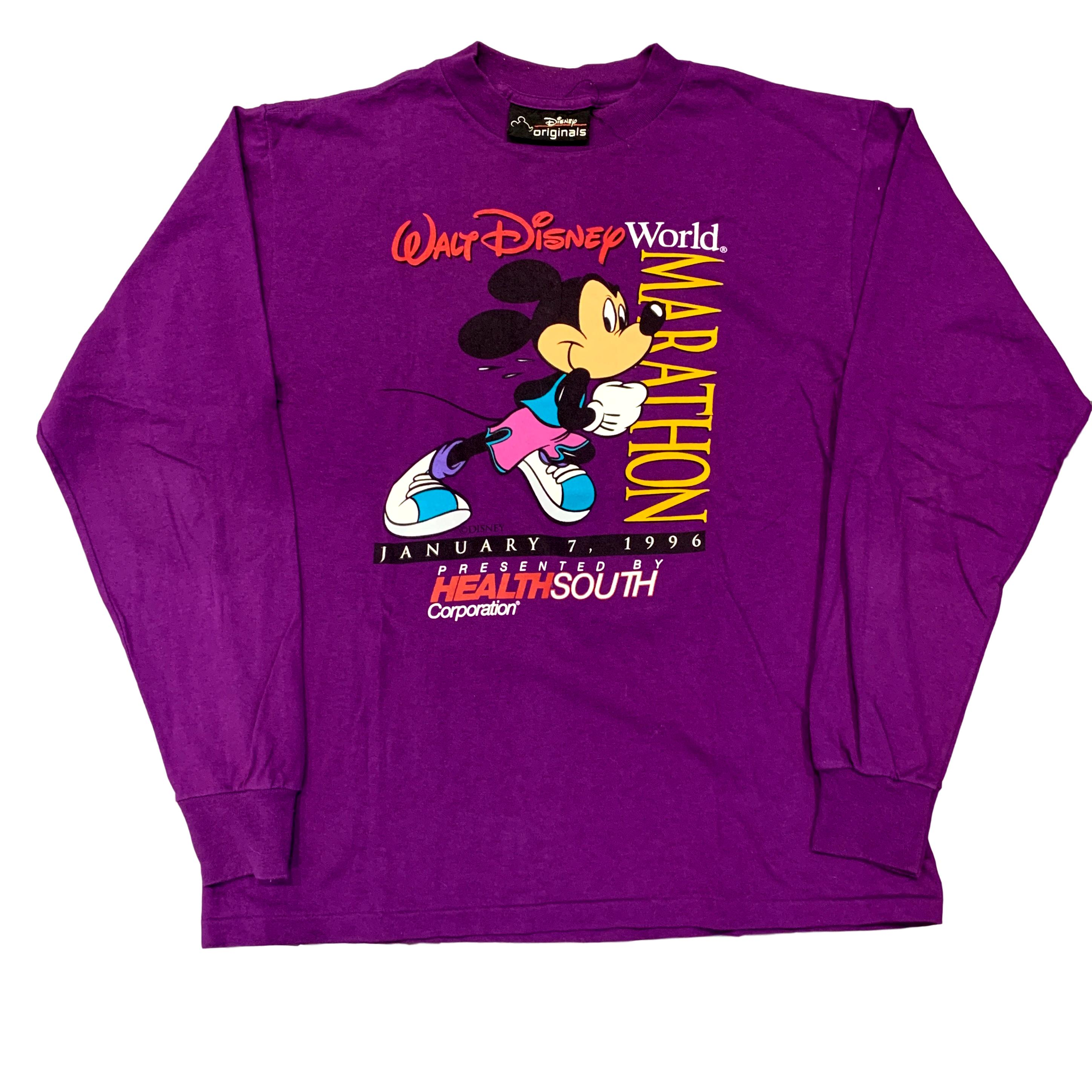 Vintage Walt Disney World 1996 Marathon Long Sleeve T Shirt (L)