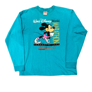 Vintage Walt Disney World 1997 Marathon Long Sleeve T Shirt (L)
