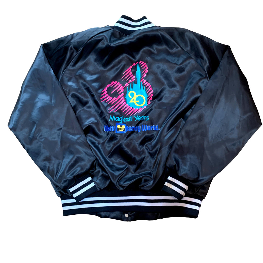 Vintage Walt Disney World 20 Magical Years Satin Varsity Jacket (L)