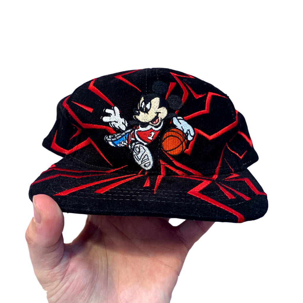 Vintage Disney Mickey Mouse Basketball Cap