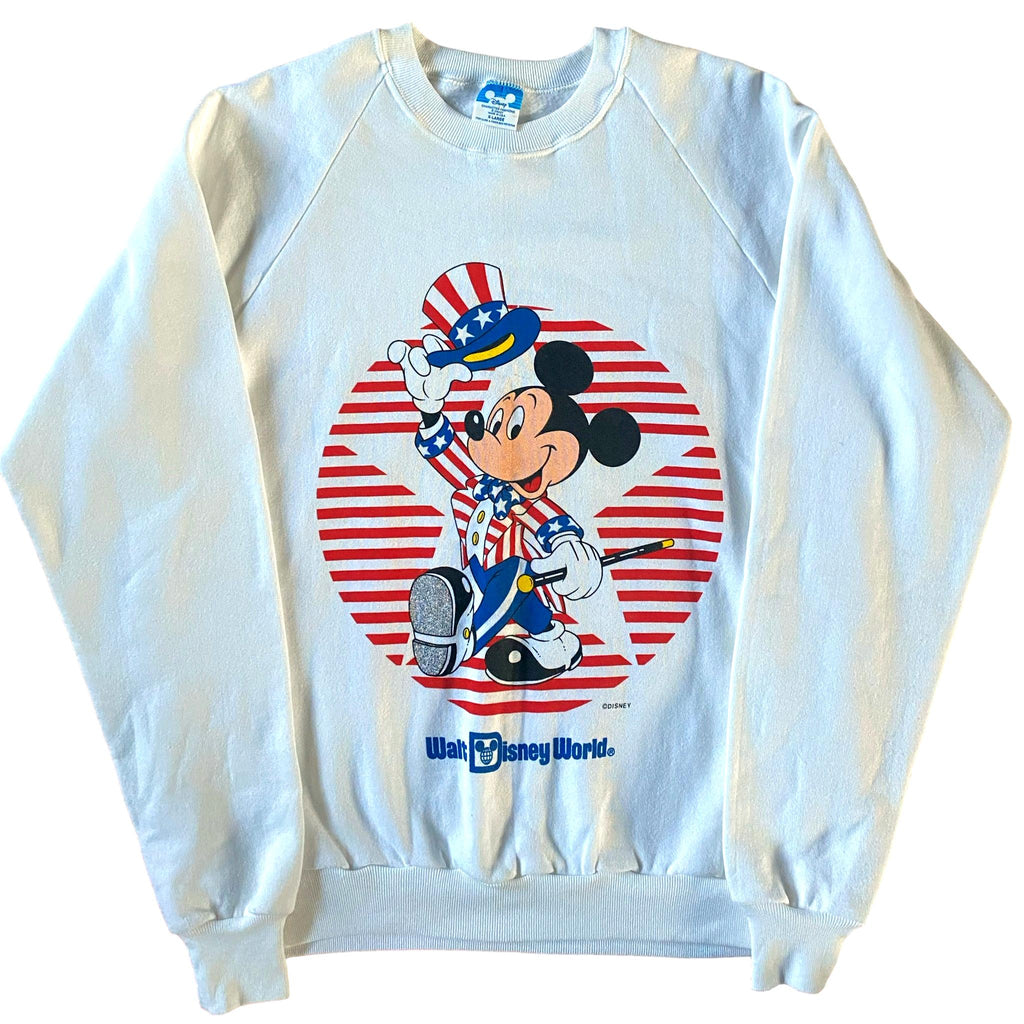 Vintage Walt Disney World Mickey Mouse USA Sweatshirt (XL)