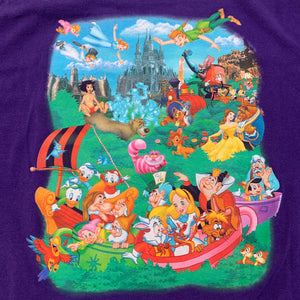 Vintage Disney Magic Kingdom Characters T Shirt (XL)