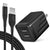 USB C Charger and 6ft Nylon Braided Cable, Overtime Fast Phone Charger for Android - Black