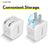 Type-C Charger Set, 20W Charger and Type-C-Lightning Cable for iPhone - White (2-Pack 10ft)