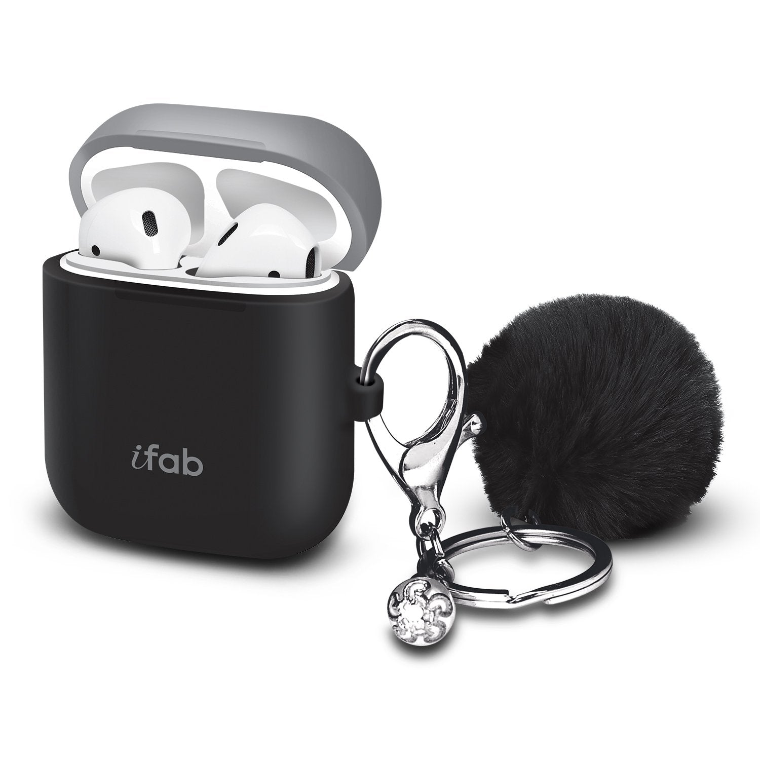 iFab Silicone Airpods Case Cover Black - VarietySell