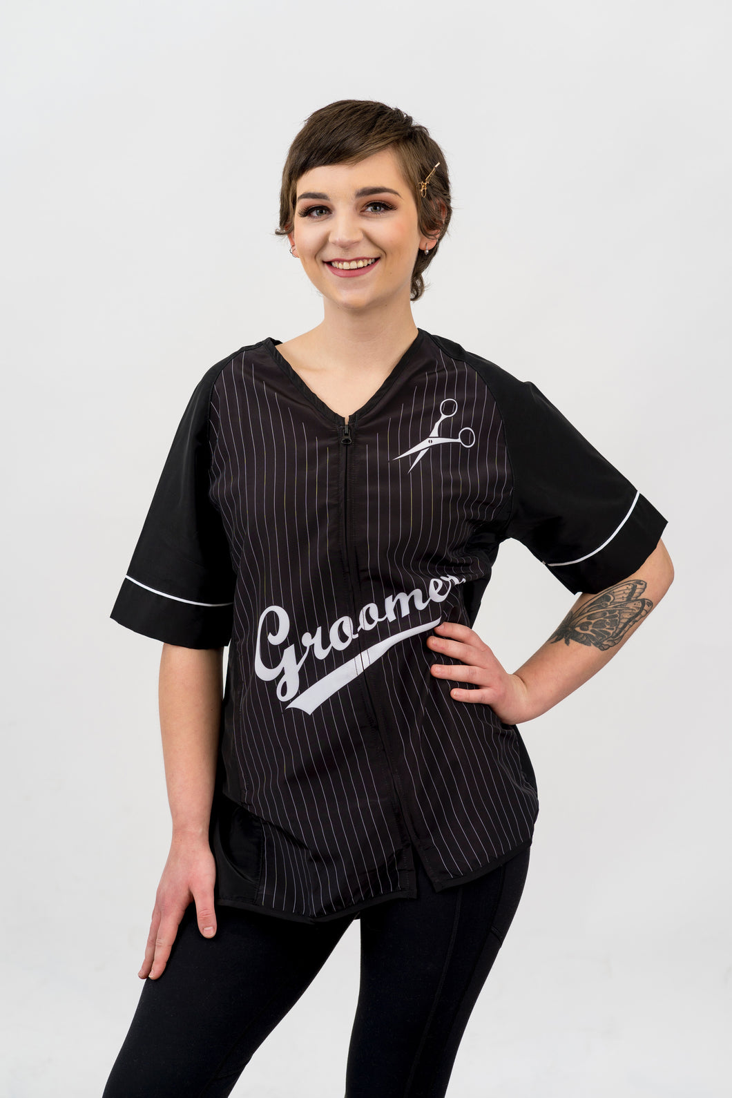 Women's Smock – Baseball-Groomer